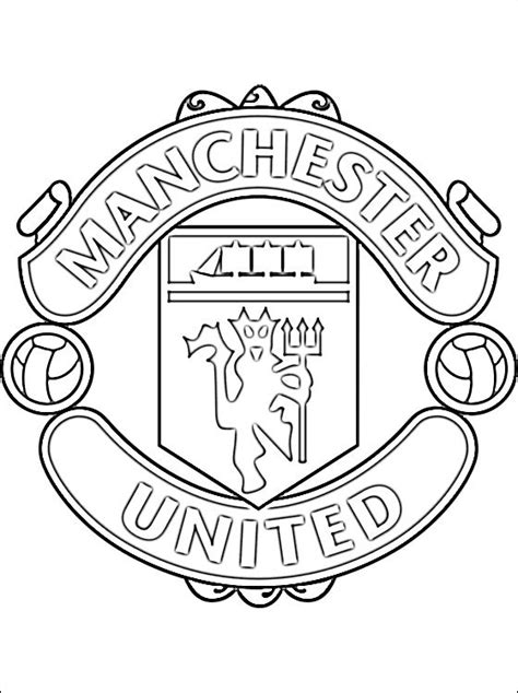 Free Coloring Pages Of Manchester United Logo Utd Colouring Pages