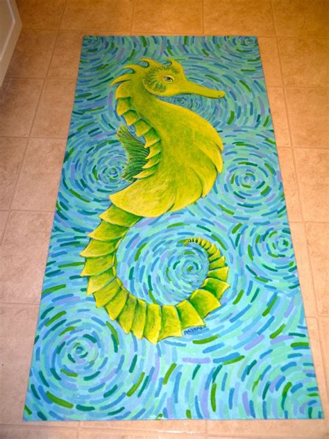 Painted Floor Mats by Sea Original Painted Floor Mat By Swbstudio On