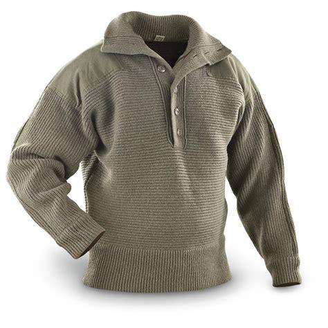 Sweter Army austrian surplus heavyweight wool sweater used