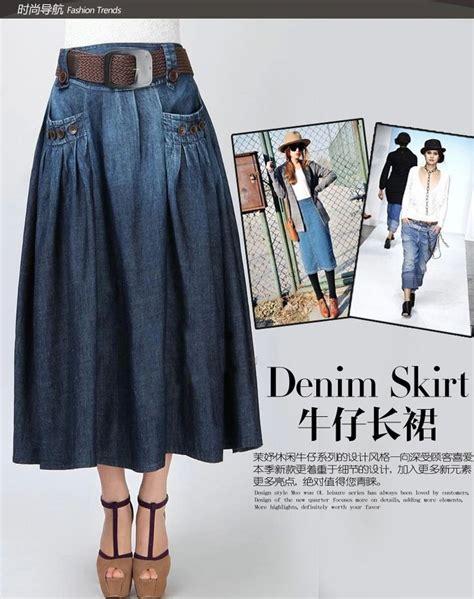 faldas largas de moda 2015 17 mejores ideas sobre faldas largas de mezclilla en
