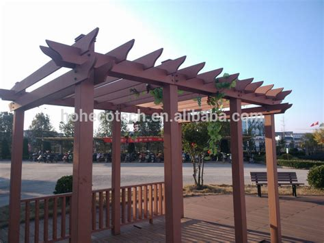 wood plastic composite gazebo pergola buy wood plastic