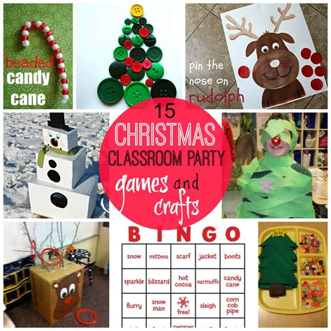 game ideas for school holiday party crafts