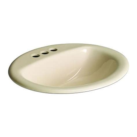 bone colored bathroom sinks glacier bay aragon self drop in bathroom sink in bone 13 0012 4bhd the home depot