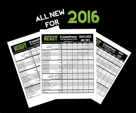 beast workout sheet 2016 edition beast workout sheets track your