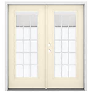 Patio Door Blinds Between Glass Shop Reliabilt 71 5 In Blinds Between The Glass Bisque Steel Inswing Patio Door At Lowes