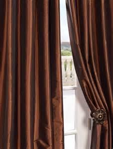 Copper Colored Curtains Buy Copper Brown Faux Silk Taffeta Curtains Drapes