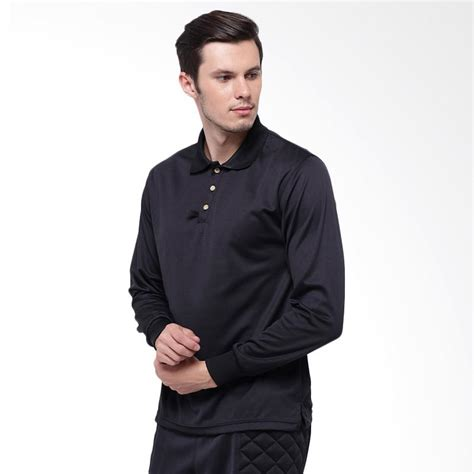 Baju Kaos Panjang T Shirt jual hitscore t shirt kaos polo lengan panjang black