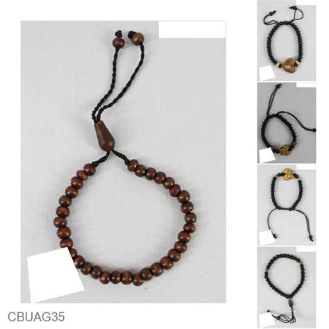 Gelang Etnik Unik Murah gelang tali tarik tasbih warna hitam coklat gelang etnik