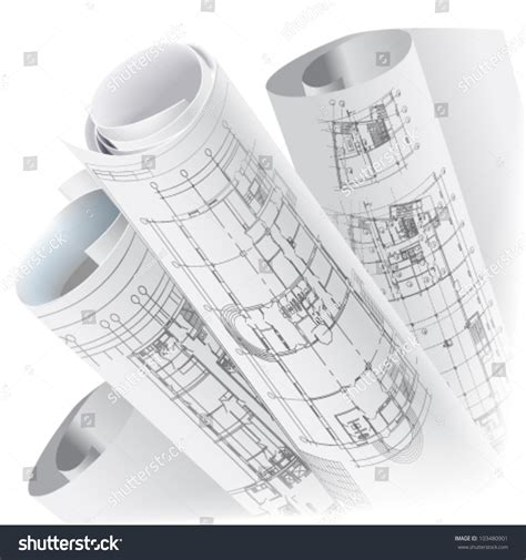 Construction Drawing Paper Architectural Background Part Of Architectural Project
