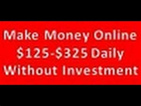 Make Money Online No Cost - how to make money online with no startup cost 2014 youtube