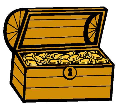 Dibujo De Un Tesoro | dibujo de tesoro pintado por cofre en dibujos net el d 237 a