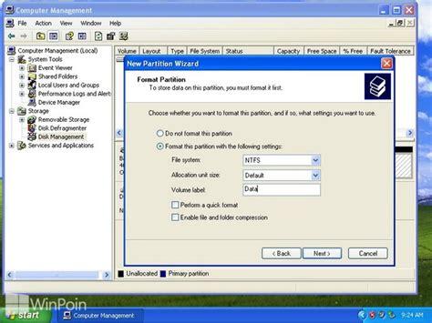 format hardisk baru di windows 7 cara membuat menghapus dan format partisi hardisk di