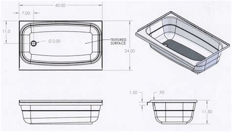 bathtubs for trailers bath tubs for rv and trailer use