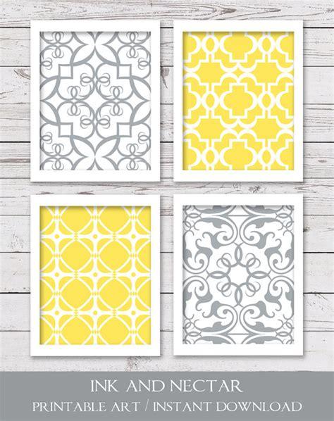 free printable wall art yellow printable art printable wall art printable art set yellow