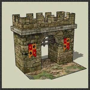 castle papercraftsquare free papercraft download page 5