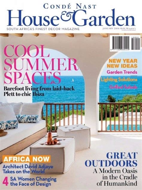 conde nast house garden january  issue cool summer