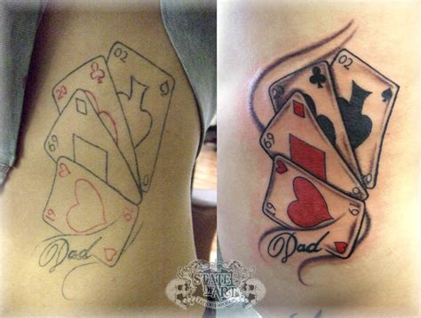 playing card tattoos cards designs photos tattoos designs