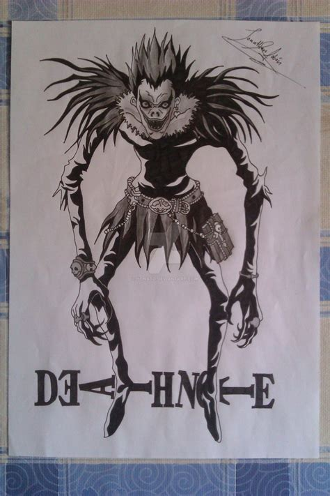 my drawings death note shinigami ryuk by yonato on