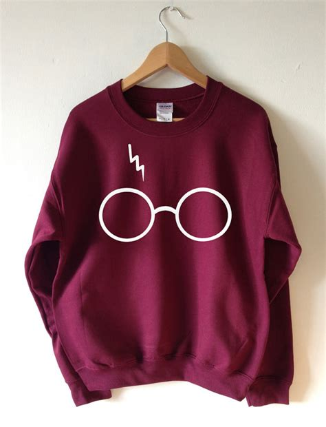 Harry Potter Sweater Black harry potter sweater lightning glasses sweatshirt by