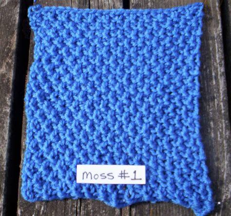 knit moss stitch moss 1