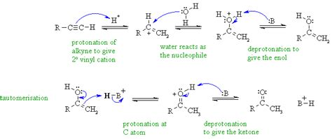 hydration of alkynes chem 353 winter 02 mt mechanism