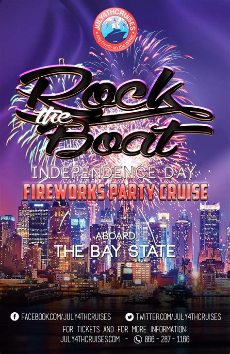 rock the boat saturday night cruise rock the boat independence day fireworks cruise aboard
