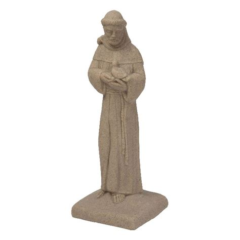 emsco sandstone high density resin st francis statue 2230