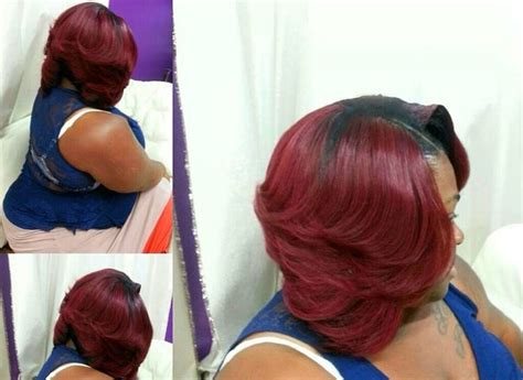 Cute Bob LOVE the red color!!   Black Hair Care   Pinterest   Bobs, Hair style and Red hair