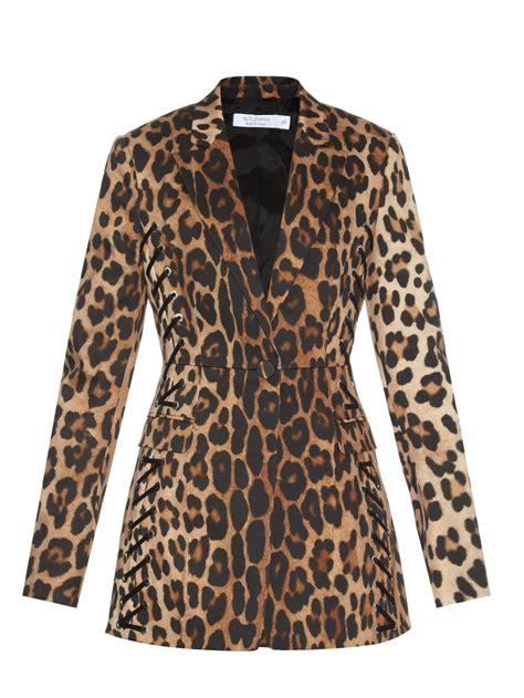 Leopard Blazer Black lyst altuzarra merrie lace up leopard print blazer