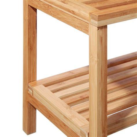 etagere 80 cm meuble etag 232 re 2 niveaux quot bambou quot 80cm naturel