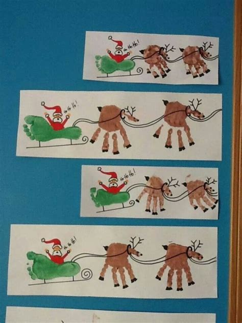 diy paper sleigh kids diy print and foot print www fabartdiy