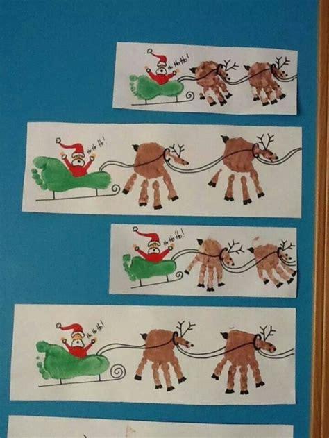 diy paper sleigh kids diy print and foot print www fabartdiy