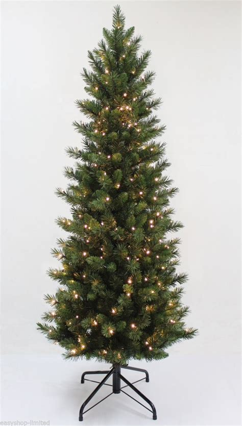 6ft white led tree pre lit 6ft 180cm premium tree black green gold warm white led light ebay