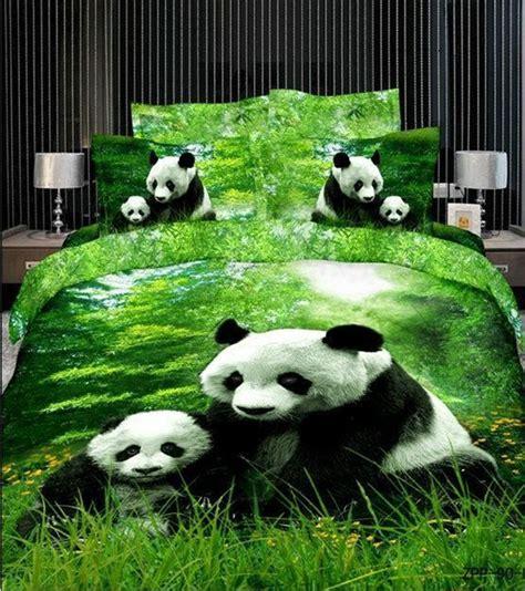 Panda Set By Unique panda 3d reactive printed size bed