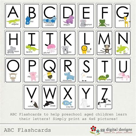 printable abc cards abc flashcards homeschool k pinterest