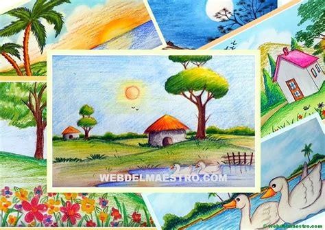 imagenes faciles para dibujar de un paisaje paisajes f 225 ciles de dibujar web del maestro
