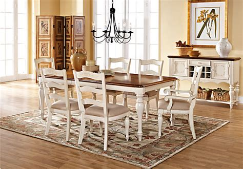 cindy crawford dining room sets cindy crawford home heatherwoods bisque 5 pc leg dining