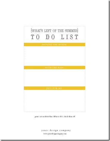 So Much To Do Bungalow Weekend To Do List Template