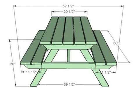 picnic table bench height ana white build a how to build an adult picnic table