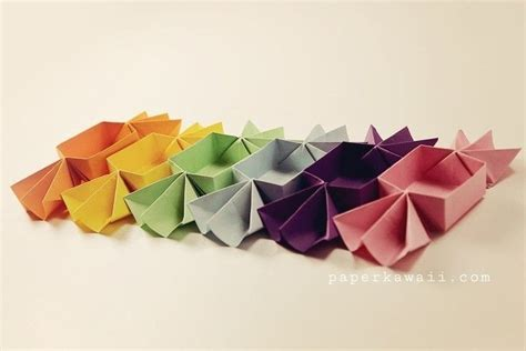 origami candy shaped box tutorial   fold  origami