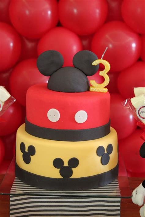 mickey mouse party planning ideas supplies idea cake decorations cakes pinterest birthdays