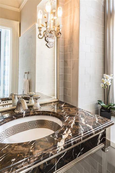 brown bathroom vanity brown marble bathroom vanity transitional bathroom