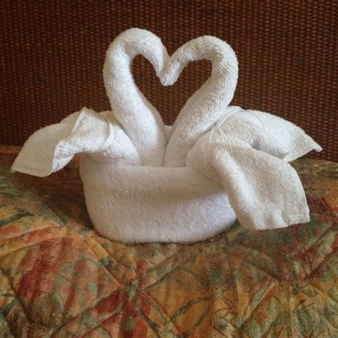 Swan Towel Origami - swans towels and on