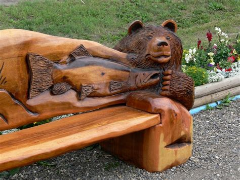 chainsaw carved bench index of outdoor americathebeautiful bc