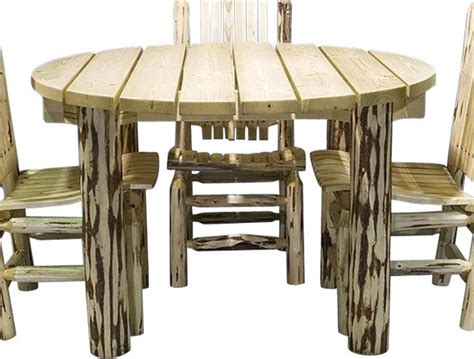 Rustic Patio Furniture Sets Montana Woodworks Mwept Log Patio Table Rustic Outdoor Dining Sets By Unbeatablesale Inc