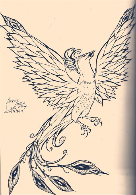 traditional phoenix tattoo traditional designs design
