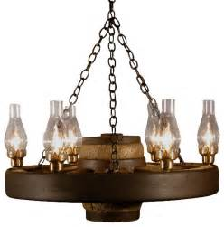 Chandelier With Fabric Shade Small Wagon Wheel Chandelier Chimney Lights Rustic