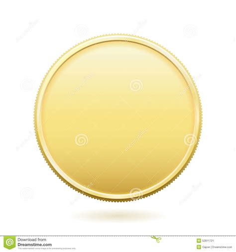 Gold Coin With Copy Space Stock Illustration Illustration Of Blank 52811721 Challenge Coin Template Psd
