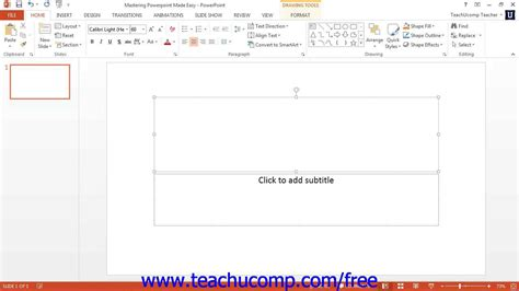 powerpoint quick tutorial powerpoint 2013 tutorial the quick access toolbar