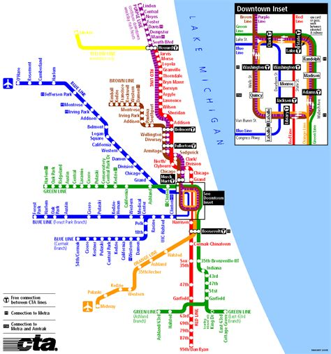 chicago map cta chicago heavy rail cta map
